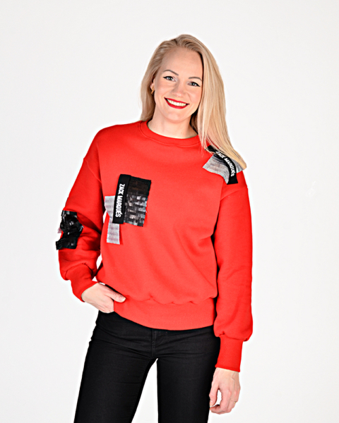 Women's sweatshirt KOKTEIL red by Zack Marqués